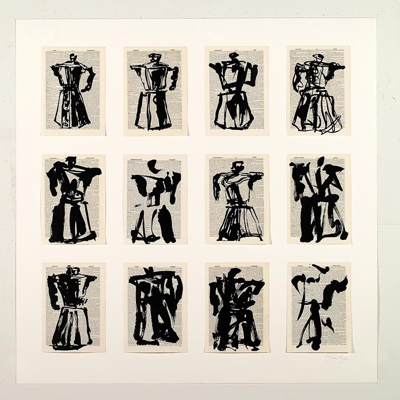 William Kentridge, universal archives, Twelve Coffee Pots, galerie Marian Goodman courtesy artiste Marian Goodman gallery © William Kentridge studio