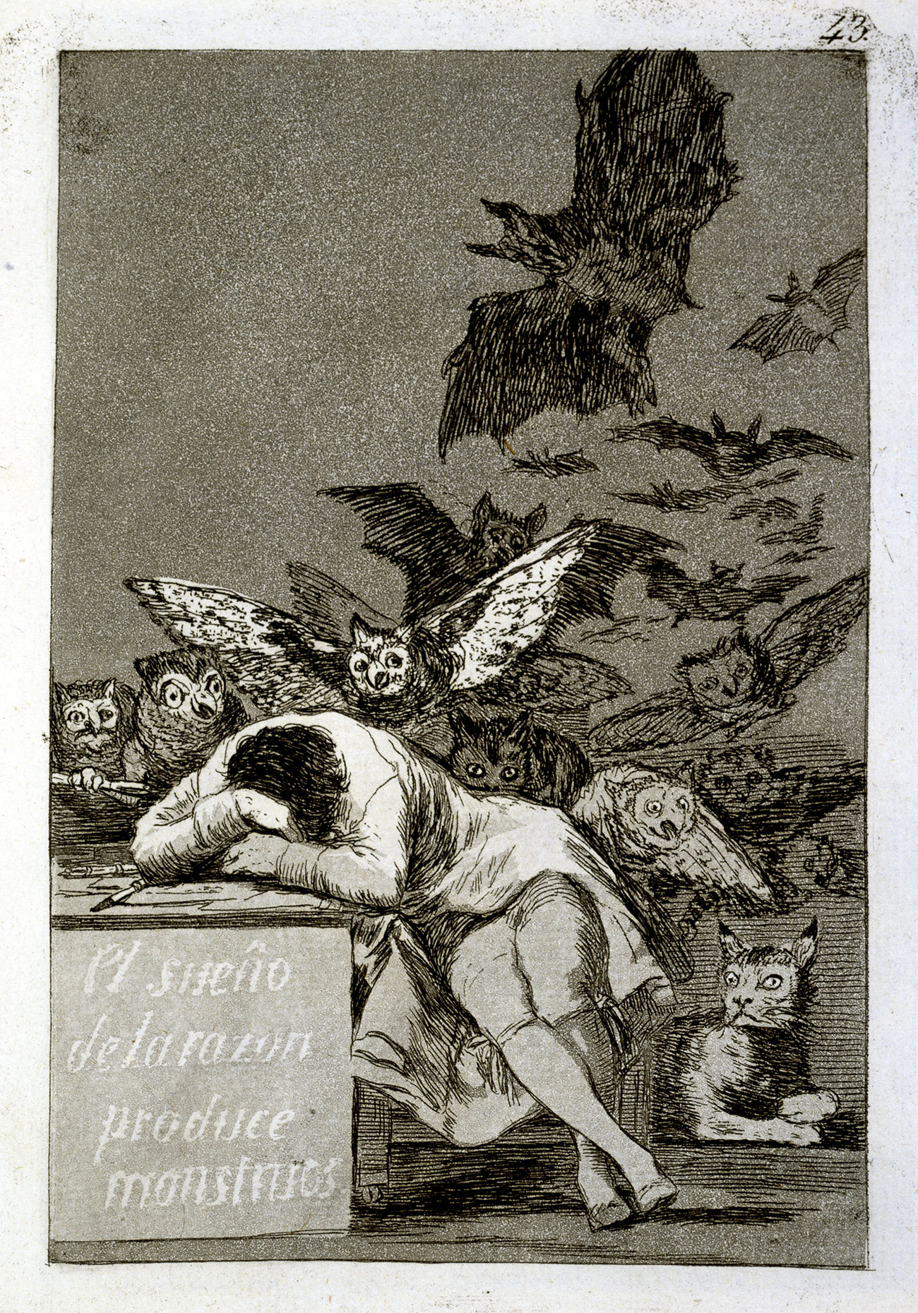 Le sommeil de la raison engendre des monstres, Francisco José de Goya y Lucientes © The British Museum, Londres, Dist. RMN-Grand Palais The Trustees of the British Museum