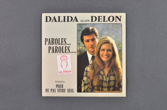 Disque 45 tours « Paroles… Paroles… », France, 1972, Mucem