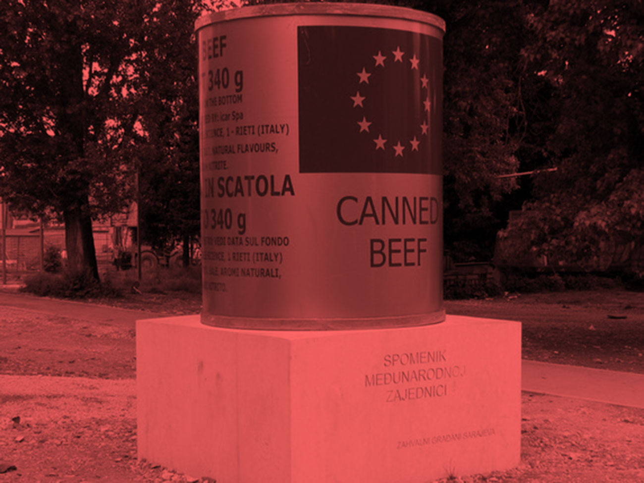 Monument to the International Community by the grateful citizens of Sarajevo © Nebojsa Seric Shoba, Sarajevo, 2007