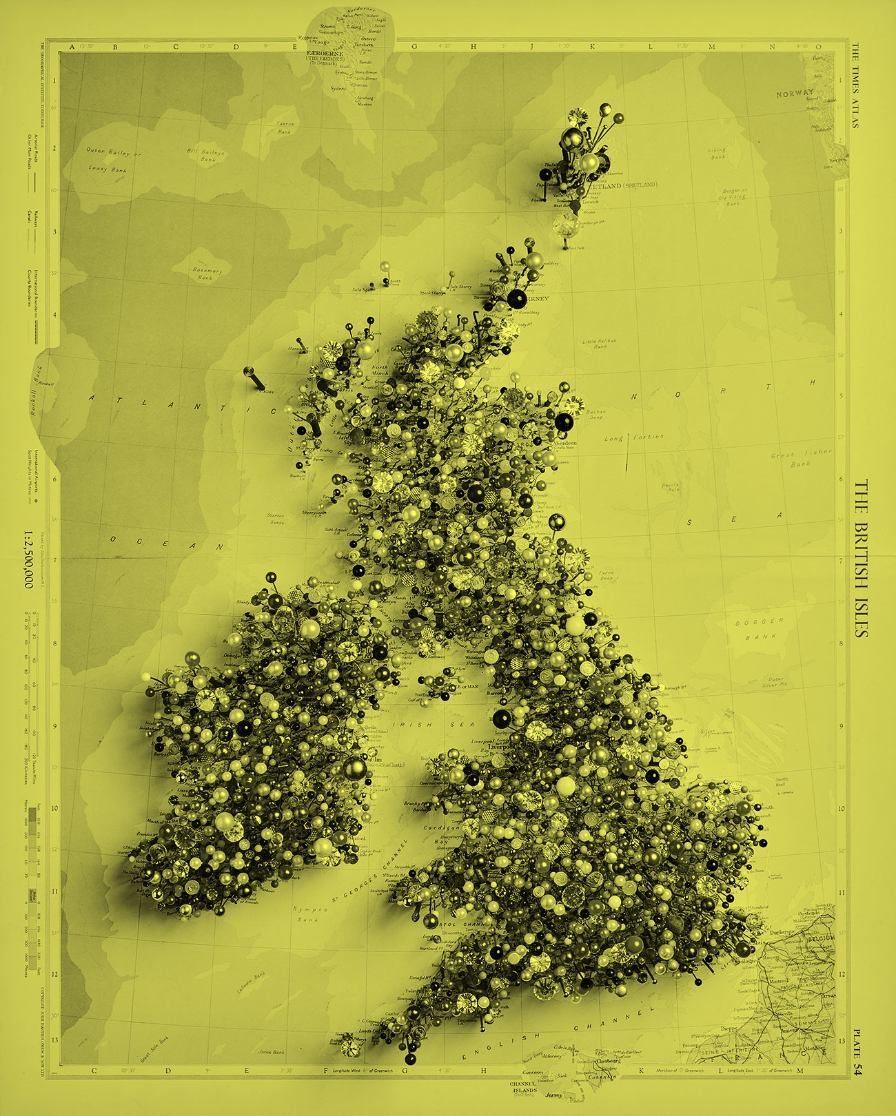 Chris Kenny Fetish Map of the British Isles©Chris Kenny, photo Gabriel Kenny Ryder