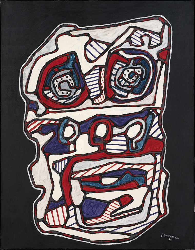 Jean Dubuffet, Réchaud four à gaz II, mars 1966, huile sur toile, 116 x 89 cm. Louisiana Museum of Art, Humlebaek, Danemark © Louisiana Museum of Modern Art. Donation: The Joseph and Celia Ascher Collection, New York © Adagp, Paris 2019