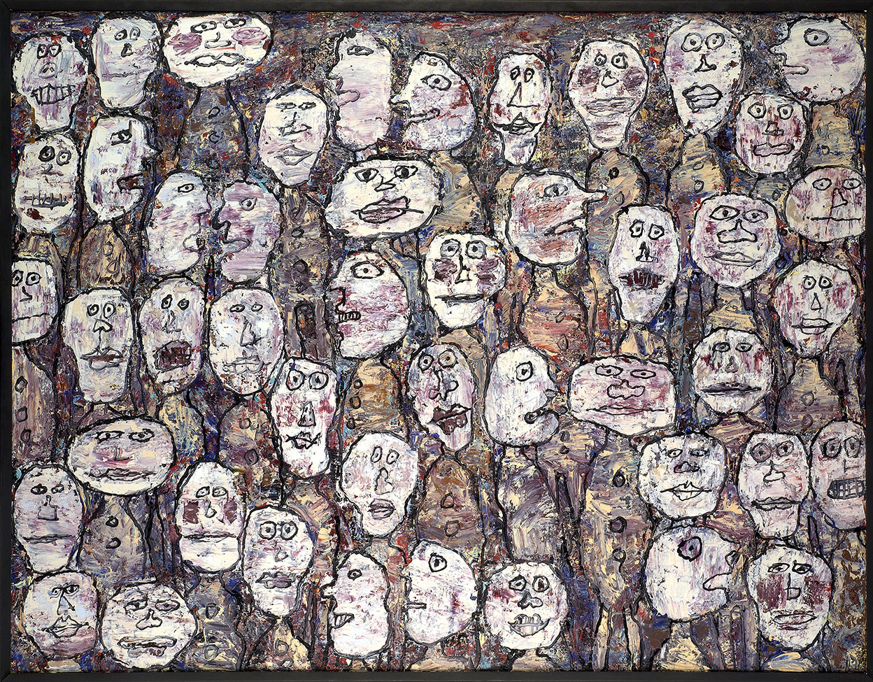 Jean Dubuffet, Affluence, 22-23 mars 1961, huile sur toile, 89 x 116 cm. Collection Fondation Dubuffet, Paris © Fondation Dubuffet, Paris © Adagp, Paris 2019