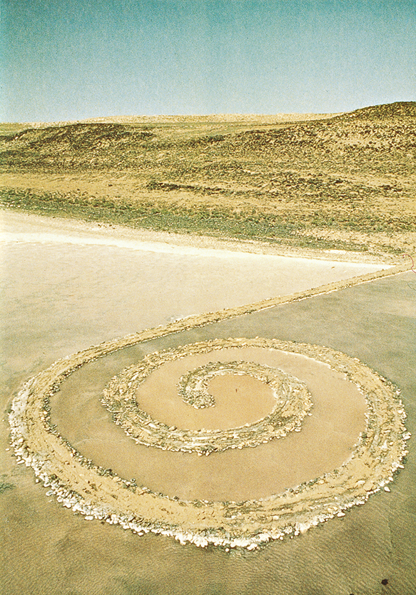 Robert Smithson, Spiral Jetty, 1970. Capture du film 16 mm numérisé, 35 min, couleur. Marseille, [MAC] musée d'art contemporain © 2019 Holt / Smithson Foundation and Dia Art Foundation / Adagp, Paris