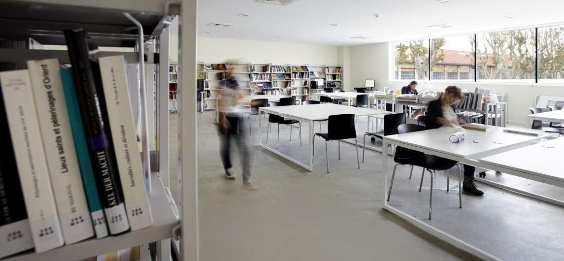 Salle de lecture (c) Yaves Inchierman, Mucem