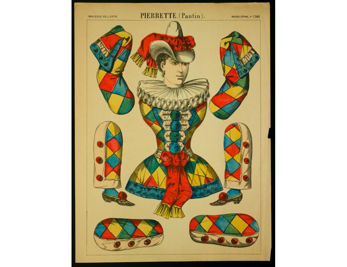 Pierrette. (Pantin), non daté, imprimeur Pellerin, Épinal, lithographie (colorié), 29.5×39 cm, 1982.11.60 ©Mucem