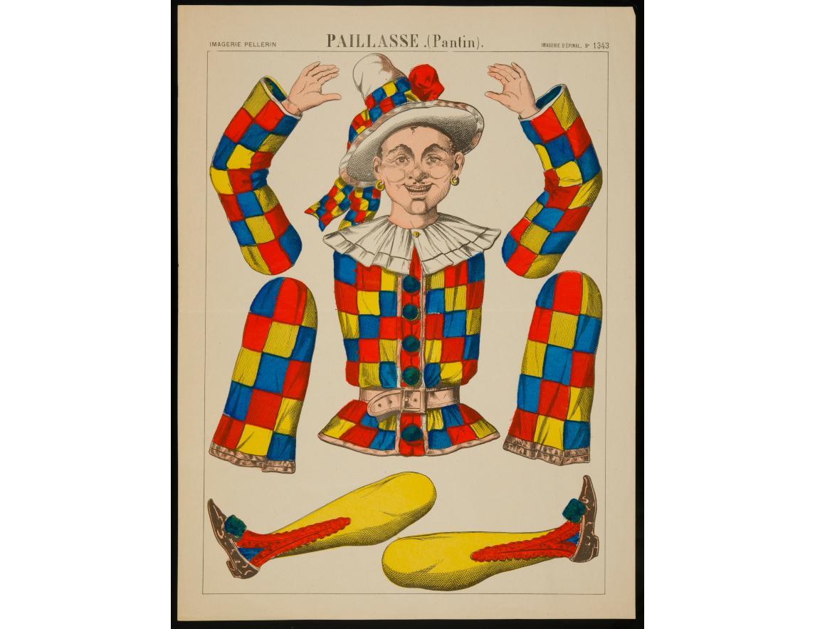 Paillasse. (Pantin), non daté, imprimeur Pellerin, Épinal, lithographie (colorié), 29.8×39.9 cm, 1982.3.227 ©Mucem