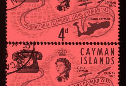 timbres des îles Caïman concernant les liaisons téléphoniques
