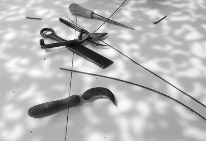 Outils de vannier © F. Joulian