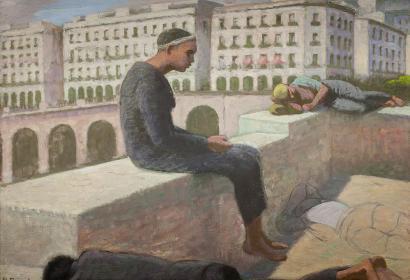 Les arcades. La rampe Magenta, Alger, Etienne Bouchaud, 1947, huile sur toile, mhfa2009.8.1 / Dépôt de Montpellier Méditerranée Métropole au Mucem /  © Frédéric Jaulmes