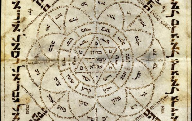 Talisman juif sur parchemin invoquant les anges, Alsace, XVIII—XIXe siècle