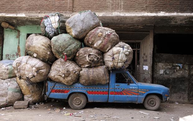 Véhicules de transport des déchets, Le Caire, Egypte, 2015, photo David Degner © David Degner,Mucem