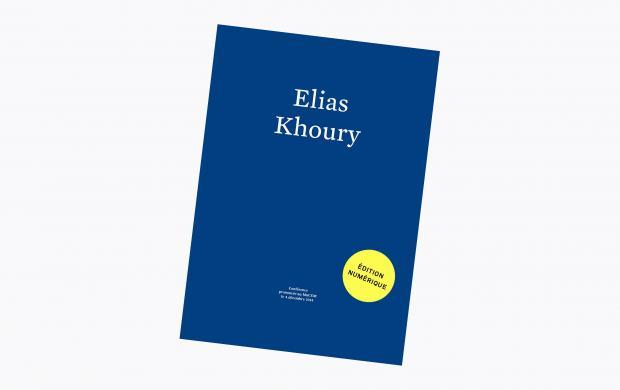 couverture - Elias Khoury