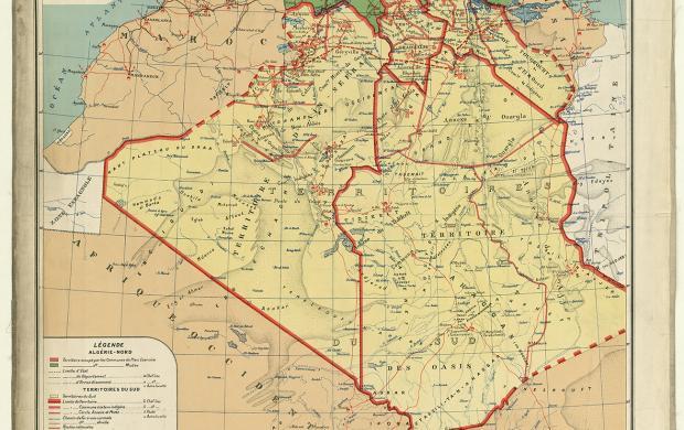Carte administrative territoires 1927 © BnF