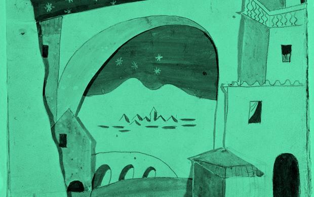 Pablo_Picasso_maquette_decor_ballet_Tricorne_1919 © Succession-Picasso-2017_ © RMN-Grand-Palais-(Musée-national-Picasso-Paris)_Herve_Lewandowski