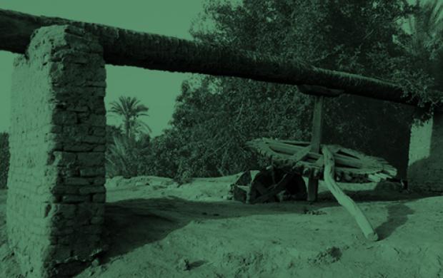 Sakieh, système d'irrigation traditionnel, Zaouit-el-Karadissa, Fayoum, Egypte, Enquête-collecte © Edouard de Laubrie, 2011