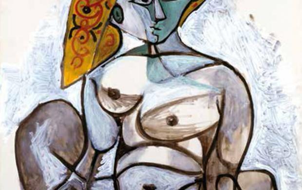 Pablo Picasso, Femme nue au bonnet turc, 1er décembre 1955. Donation Louise et Michel Leiris, 1984—Musée national d'art moderne / Centre de création industrielle—en dépôt au musée national Picasso-Paris. Photo © Centre Pompidou, MNAM-CCI, Dist. RMN-Grand