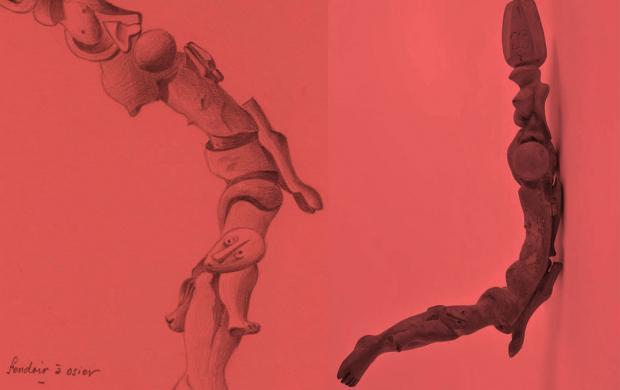 Xavier Parguey, Fendoir, Vuillafrans © Mucem et René Perrot, Dessin d'un fendoir réalisé par Xavier Parguey Vuillafrans © Mucem