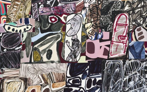 Jean Dubuffet, Le Déchiffreur, 178 x 214 cm Musée d'art moderne et contemporain de Saint-Etienne-Métropole Droits photographiques © Cyrille Cauvet / Musée d'art moderne et contemporain de Saint-Etienne Métropole Droits d'auteur © Adagp, Paris, 2018