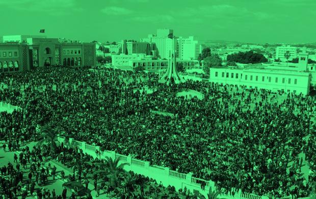 Kasba Place du Gouvernorat Tunis Fevrier 2011 © Yassine Bousselmi