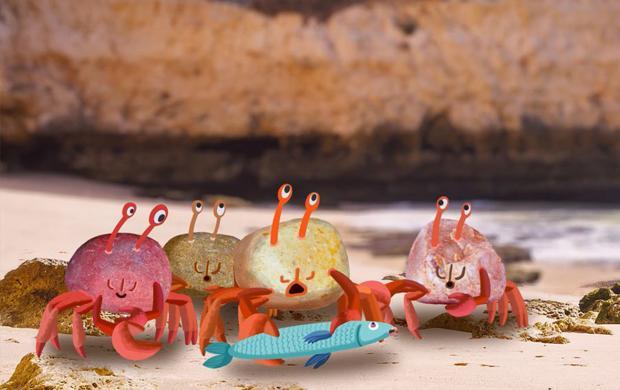 Crabe Phare © Gaëtan Borde, Benjamin Lebourgeois, Claire Vandermeersh