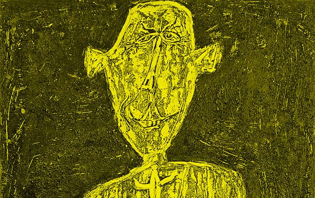 Jean Dubuffet Henri Michaux acteur japonais 1946 Collection Financiere Saint-James Paris Cortesia Applicat Prazan