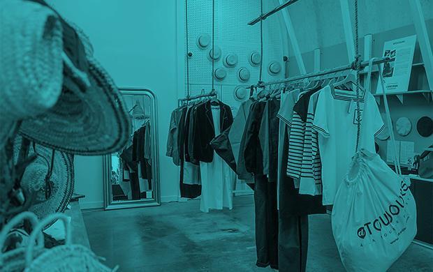 Concept store vêtements modèles