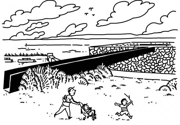 Vacances d'été en famille au Mucem, Illustrations © Quentin Vijoux